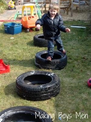 tire playing