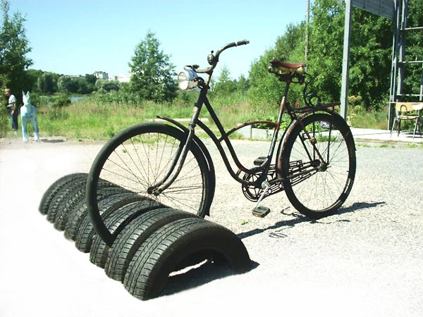 tire bike rack