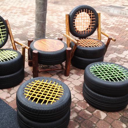tire garden stools