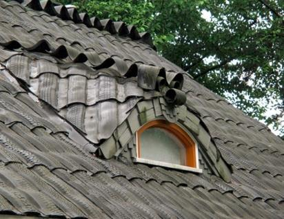 tire garden roof shingles