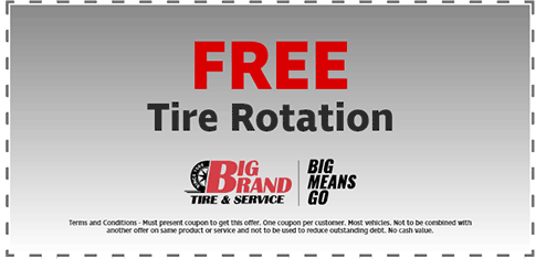 Free Tire Rotation Big Brand Tire And Service